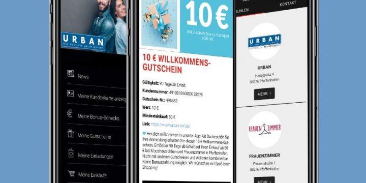 URBAN App exklusiv für Urban Kunden